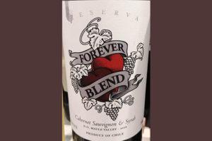 Отзыв о вине Forever Blend Cabernet Sauvignon & Syrah Reserva Maule Valley Chile 2016