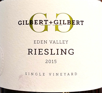 Отзыв о вине Gilbert + Gilbert Riesling Eden Valley Single Vineyard 2015