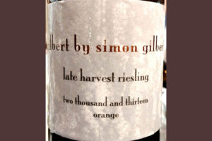 Отзыв о вине Gilbert by Simon Gilbert Late Harvest Riesling Orange 2013