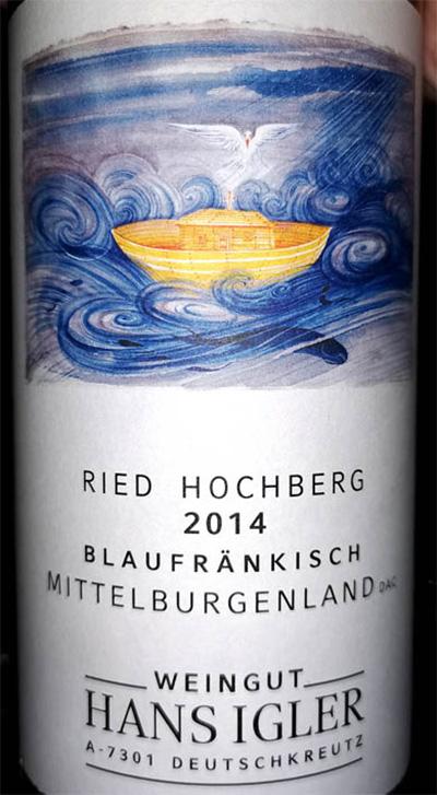 Отзыв о вине Hans Igler Blaufrankisch Ried Hochberg Mittelburgenland 2014