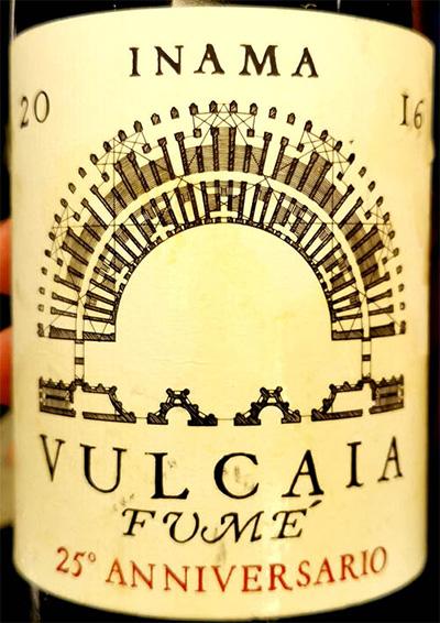 Отзыв о вине Inama Vulcaia Fume 25 Anniversario 2016