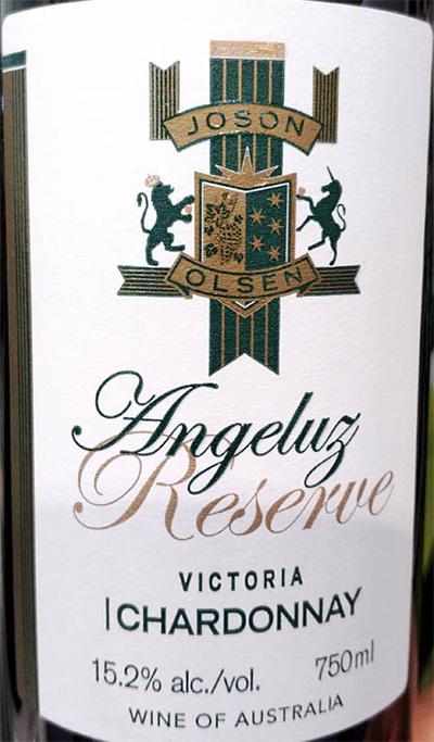 Отзыв о вине Joson Olsen Angeluz Chardonnay reserva Victoria Australia 2016
