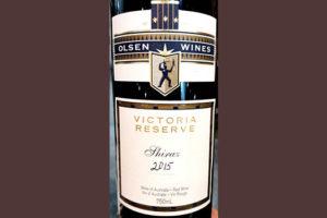 Отзыв о вине Joson Olsen Victoria Reserve Shiraz Australia 2015