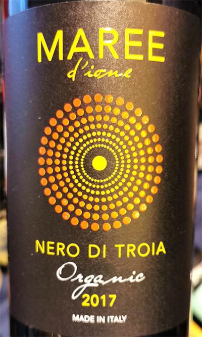 Отзыв о вине Maree d'Ione Nero di Troia Organic 2017
