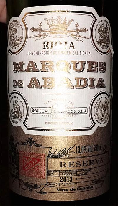 Отзыв о вине Marques de Abadia Reserva 2013