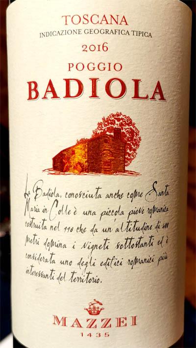 Отзыв о вине Mazzei Badiola Poggio Toscana rosso 2016