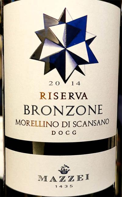 Отзыв о вине Mazzei Bronzone Morellino di Scansano Riserva 2014