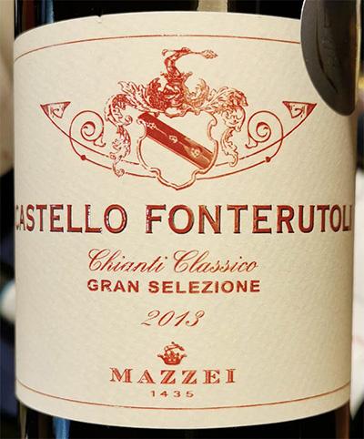 Отзыв о вине Mazzei Castello Fonterutoli Chianti Classico Gran Selezione 2013