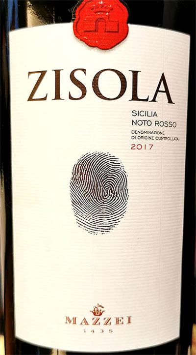 Отзыв о вине Mazzei Zisola Sicilia Noto rosso 2017