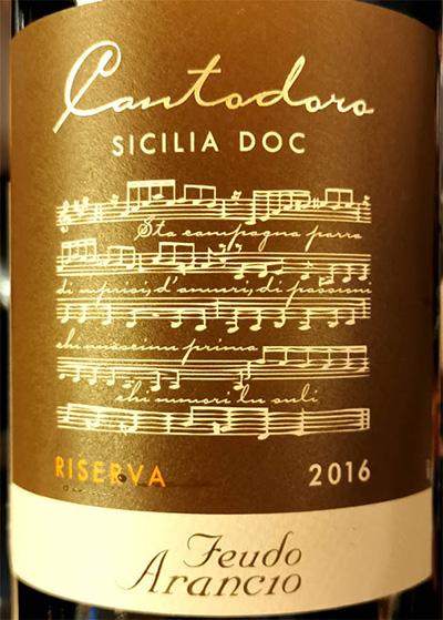 Отзыв о вине Mezzacorona Feudo Arancio Cantodoro Riserva Sicilia DOC 2016