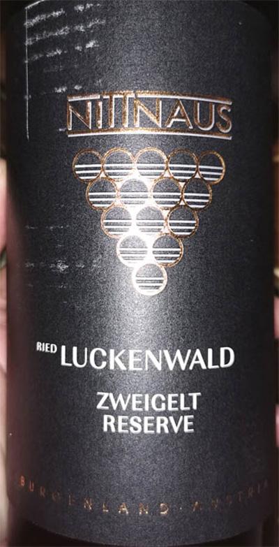 Отзыв о вине Nittnaus Ried Luckenwald Zweigelt Reserve Burgenland Austria 2017