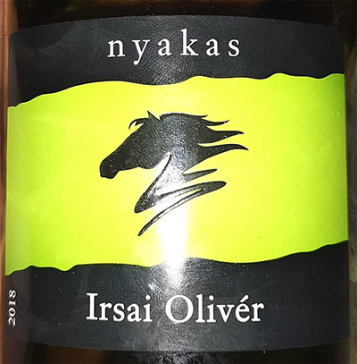 Отзыв о вине Nyakas Irsai Oliver 2018