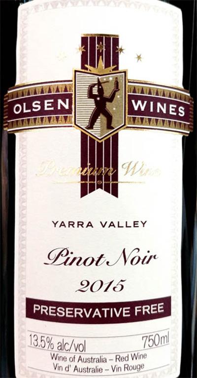 Отзыв о вине Olsen Wines Yarra Valley Pinot Noir 2015