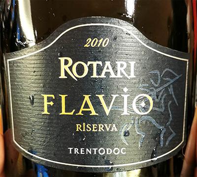 Отзыв об игристом вине Rotari Flavio Riserva Trento DOC brut 2010