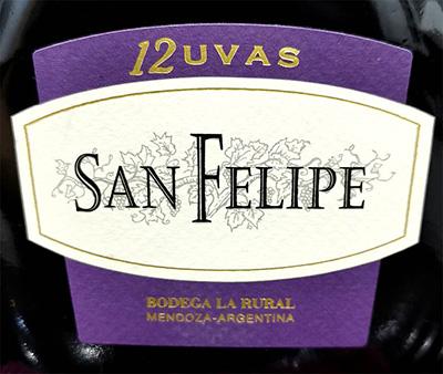 Отзыв о вине San Felipe 12 Uvas Mendoza 2018