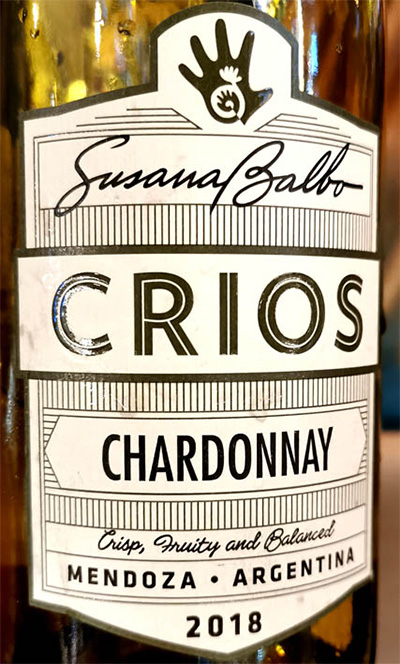 Отзыв о вине Susana Balbo Dominio del Plata Crios Chardonnay 2018