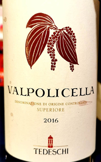 Отзыв о вине Tedeschi Valpolicella Superiore 2016