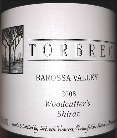 Отзыв о вине Torbreck Woodcutter's Shiraz Barossa Valley 2008