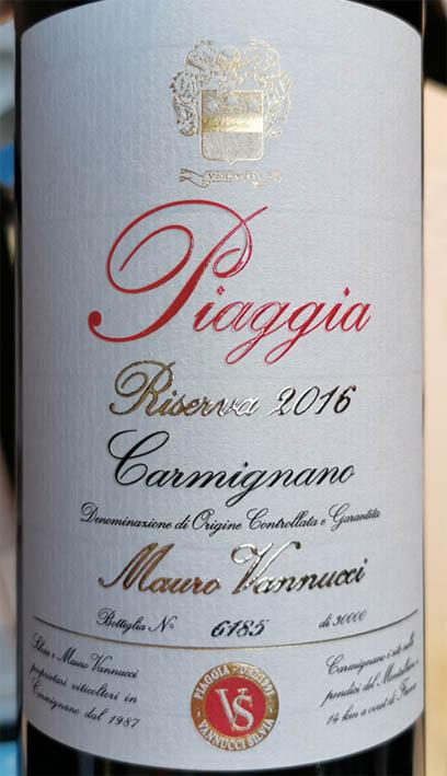 Piaggia Riserva Carmignano DOCG 2016