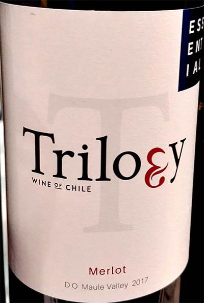 Отзыв о вине Trilogy Merlot Maule Valley Chile 2017
