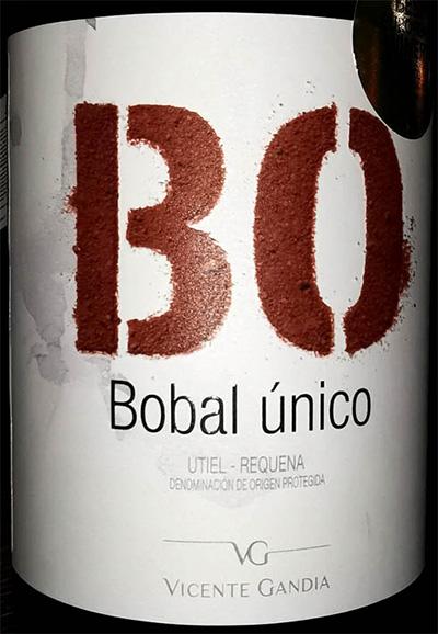 Отзыв о вине Vicente Gandia BO Bobal Unico Utiel-Requena 2017