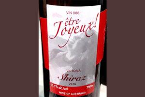 Отзыв о вине Vin 888 Etre Joyeux! Shiraz Victoria Australia 2016