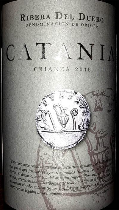 Отзыв о вине Vinedos y Bodegas Gormaz Catania Crianza Ribeira del Duero 2015