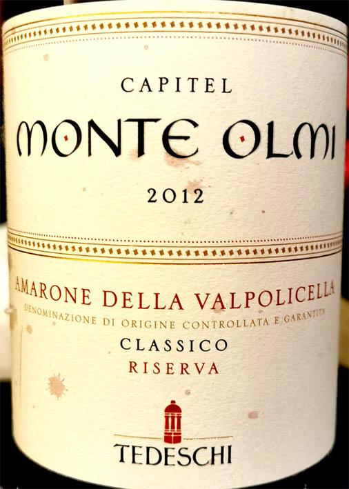 Capitel Monte Olmi Amarone della Valpolicella 2012 от Tedeschi
