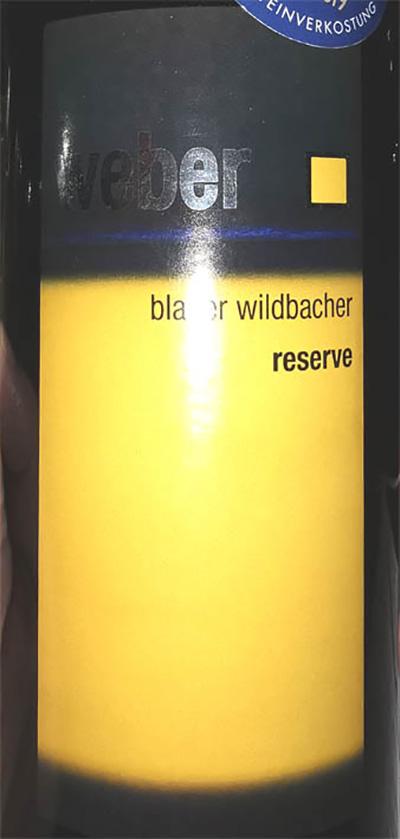 Отзыв о вине Weber Blauer Wildbacher Reserve 2015