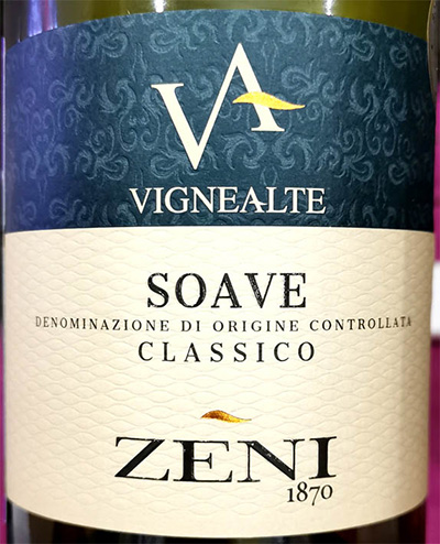Отзыв о вине Zeni Vignealte Soave classico 2018