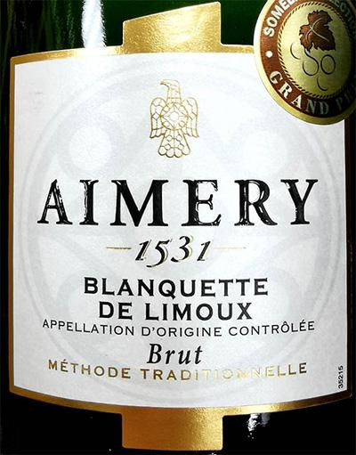 Отзыв об игристом вине Aimery Blanquette de Limoux brut methode tradicionelle