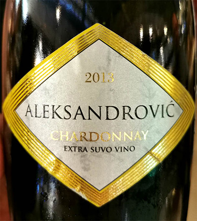 Отзыв об игристом вине Aleksandrovic Chardonnay Trijumf Extra Suvo Vino 2013