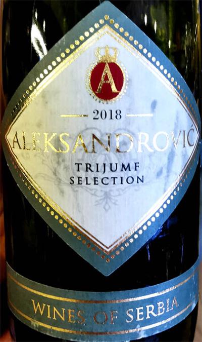 Отзыв о вине Aleksandrovic Trijumf Selection Wines of Serbia 2018