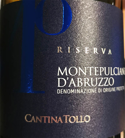 Отзыв о вине Cantina Tollo Montepulciano d'Abruzzo Riserva 2014