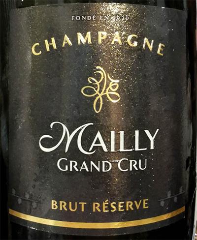 Отзыв о шампанском Champagne Mailly Grand Cru brut Reserve