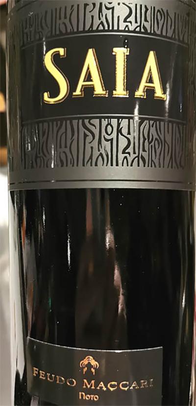 Отзыв о вине Feudo Maccari Saia Nero d'Avola Sicilia 2016
