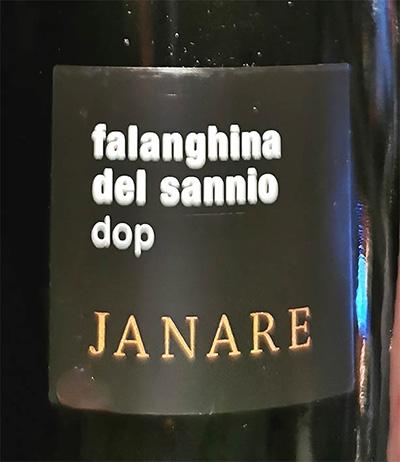Отзыв о вине Janare Falanghina del Sannio DOP 2018