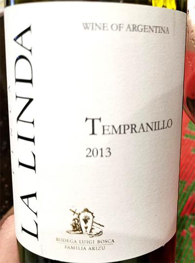 Отзыв о вине La Linda Tempranillo Argentina Mondoza 2013