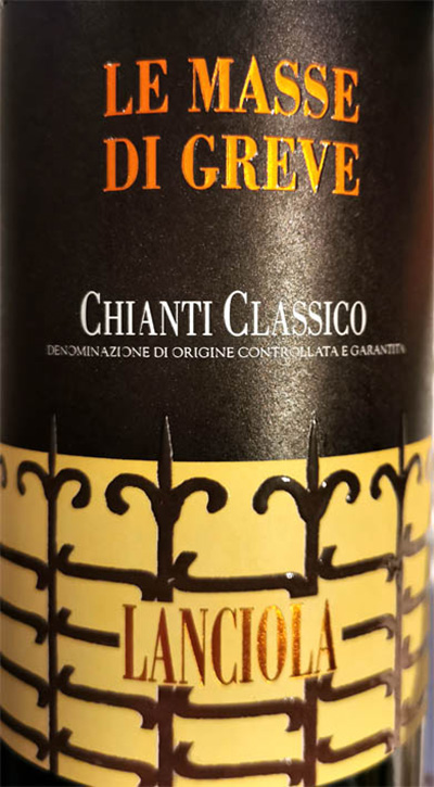 Отзыв о вине Lanciola Chianti Classico Le Masse di Greve 2016
