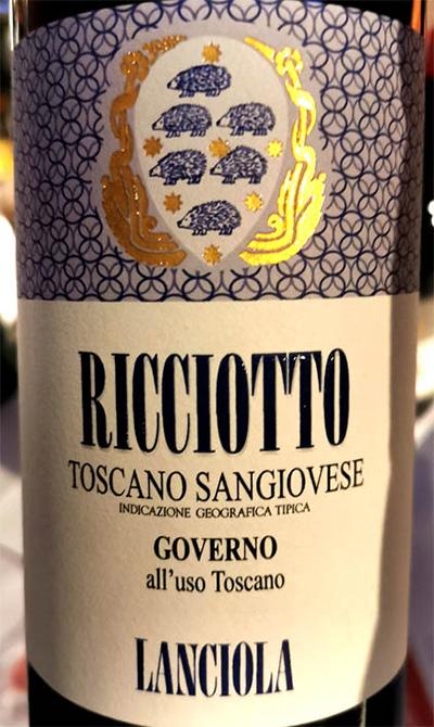 Отзыв о вине Lanciola Ricciotto Toscano Sangiovese Governo 2016