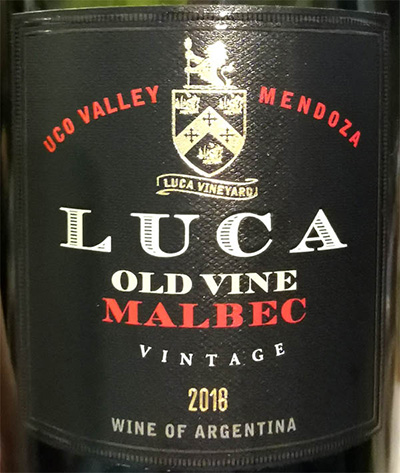 Отзыв о вине Luca Old Wine Malbec Uco Valley Argentina 2018