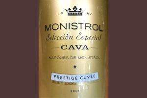 Отзыв об игристом вине Marques de Monistrol Seleccion Especial Cava Prestige Cuvee brut