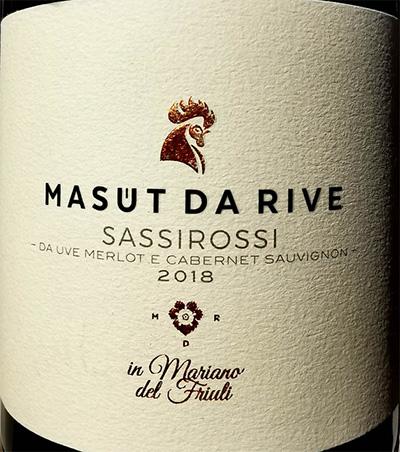 Отзыв о вине Masut da Rive SassiRossi Mariano del Friuli 2018