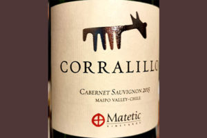 Отзыв о вине Matetic Corralillo Cabernet Sauvignon Maipo Valley Chile 2015