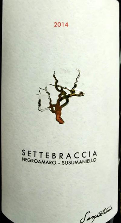 Отзыв о вине Sampietrana Settebraccia Negroamaro Susumaniello 2014