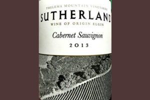 Отзыв о вине Thelema Mountain Vineyards Sutherland Cabernet Sauvignon Elgin 2013