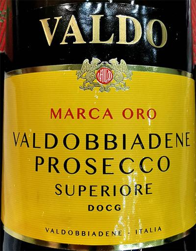 Отзыв об игристом вине Valdo Marca Oro Vildobbiadene Prosecco Superiore
