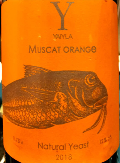 Отзыв о вине Yaiyla Muscat Orange Natural Yeast 2018
