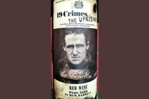 Отзыв о вине 19 Crimes The Uprising Red Wine Part-Aged in Rum Barrels 2017