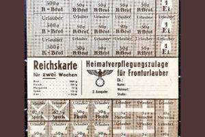 Продуктовая карточка из Германии времен ВОВ